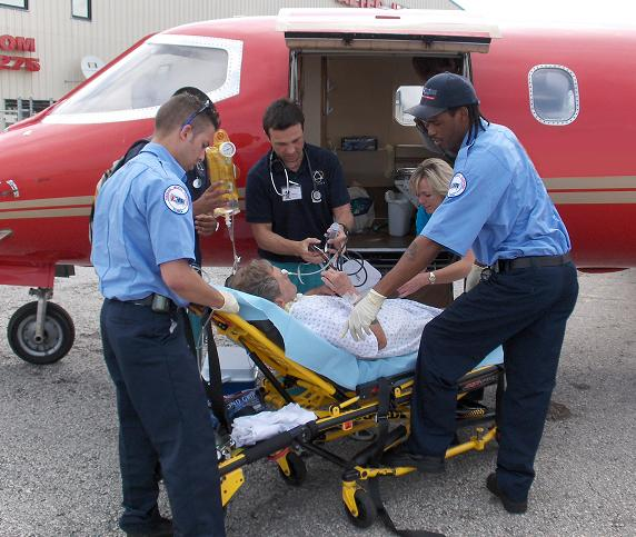 Trinity Air Ambulance Patient Entering Aircraft