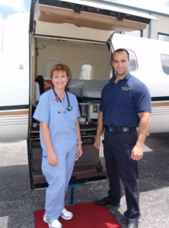 Air Ambulance Medical team members Lily and Jerome
