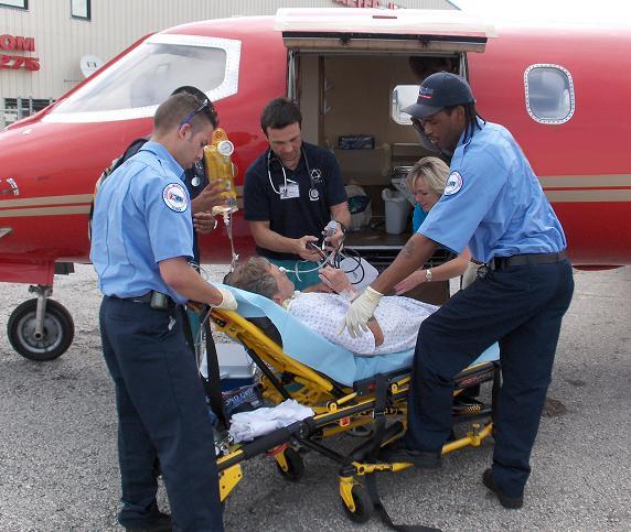 Trinity Air Ambulance Patient Entering Aircraft